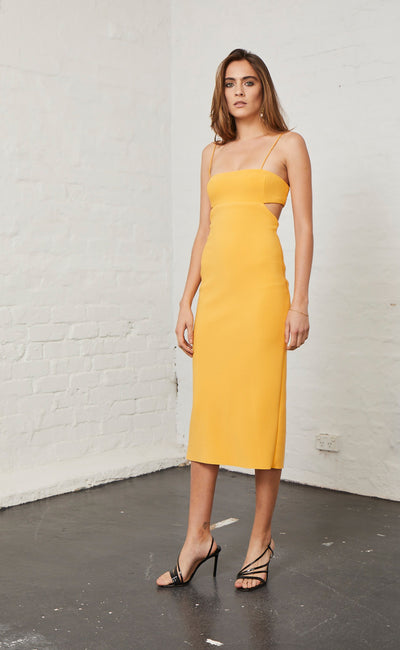 ELLE CUT OUT MIDI DRESS - MANGO