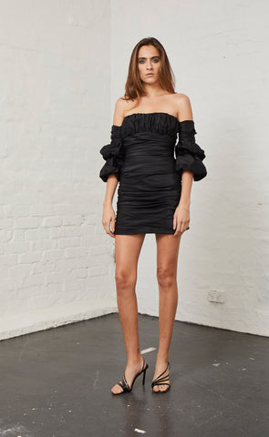 MIDNIGHT GROOVE DRESS - BLACK