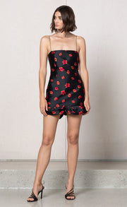 COCO CABANA MINI DRESS - FLORAL JACQUARD