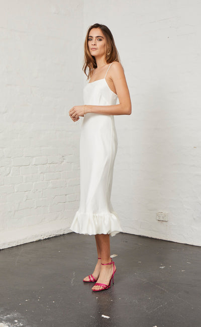 HONEY HONEY SLIP DRESS - IVORY