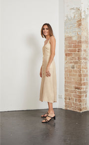 NATURAL WOMAN MIDI DRESS - NATURAL