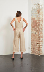 NATURAL WOMAN JUMPSUIT - NATURAL