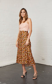 NEW ROMANTICS MIDI SKIRT - FLORAL PRINT