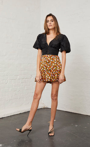 NEW ROMANTICS SKIRT - FLORAL PRINT