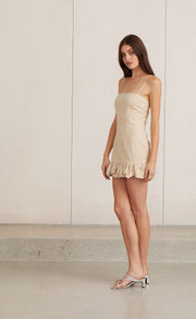 NATURAL WOMAN MINI DRESS - NATURAL