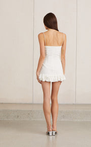 NATURAL WOMAN MINI DRESS - CHALK