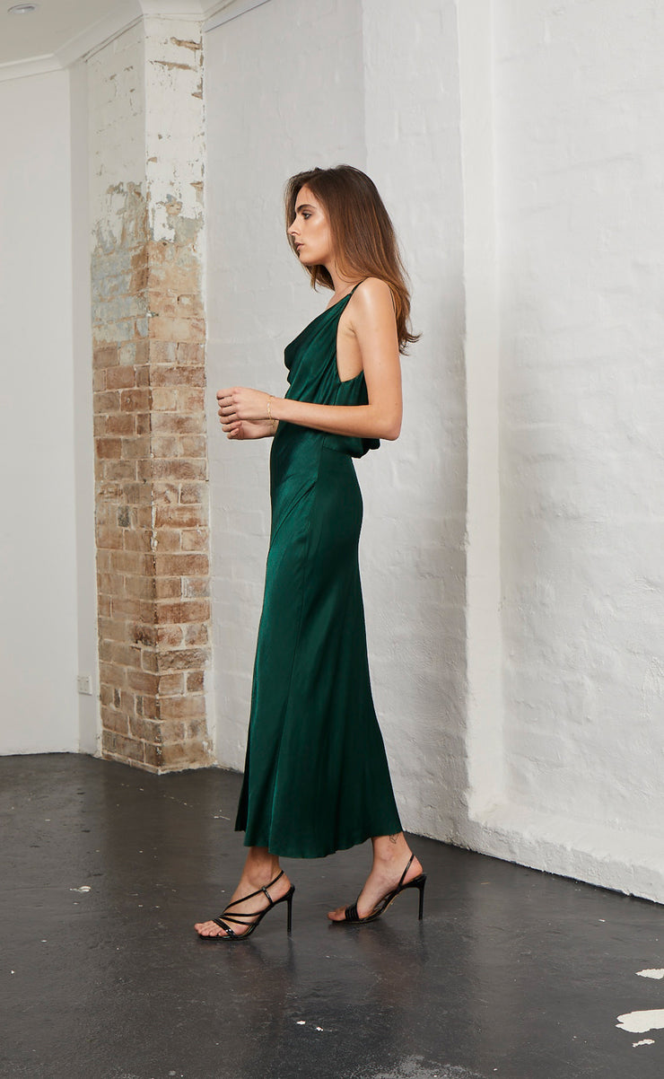 MARTINI CLUB SPLIT DRESS - EMERALD