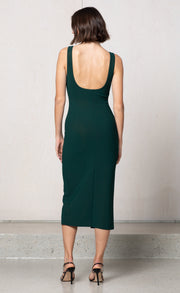 MARGAUX  MOUTH DRESS - FOREST