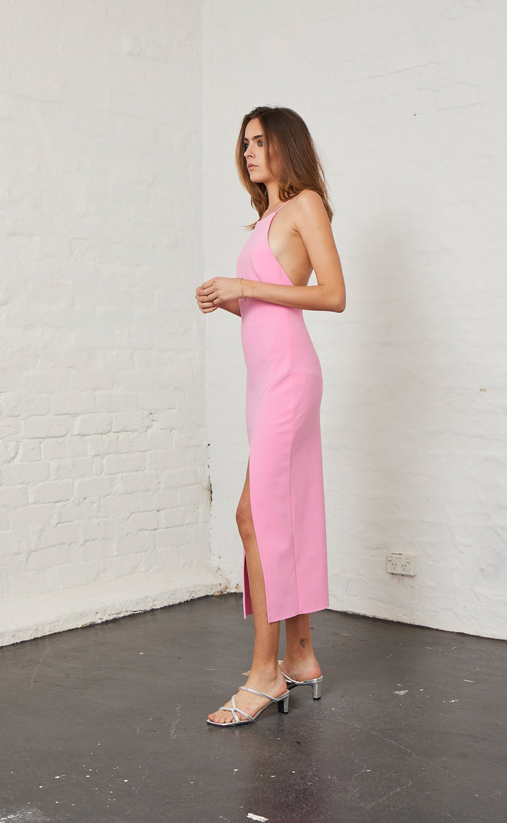 MARGAUX LOW BACK DRESS - FUCHSIA