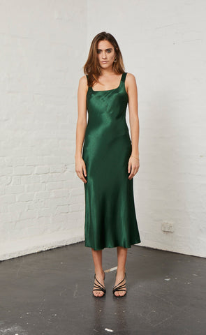 MARTINI CLUB MIDI DRESS - EMERALD
