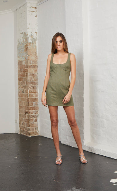 STELLA DRESS - KHAKI