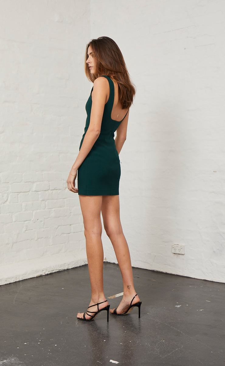 MARGAUX MINI DRESS - FOREST