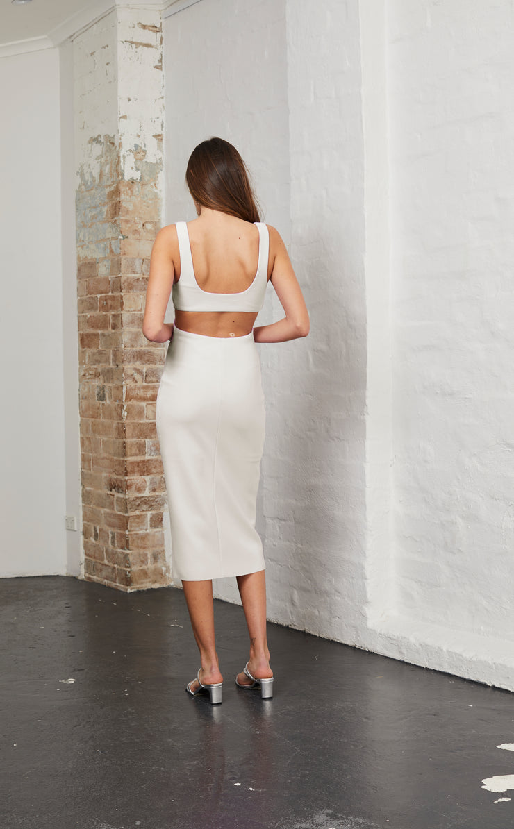 ALESSANDRA MIDI DRESS - NUDE