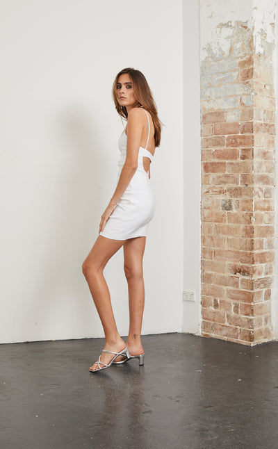 HEY BABY MINI DRESS - IVORY