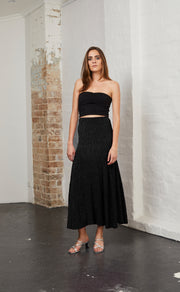 ELECTRIC BOOGIE SKIRT - BLACK