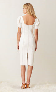 NOAH MOUTH MIDI DRESS - IVORY