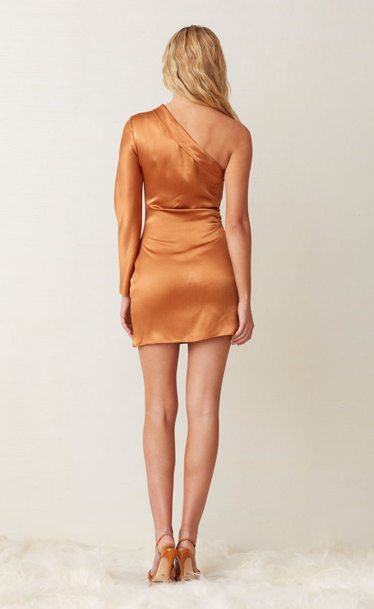 LANI MINI DRESS - CARAMEL