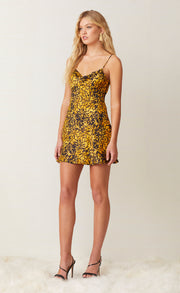 TURTLE ROCK MINI DRESS - TORTOISE PRINT
