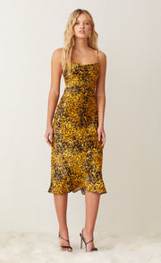 TURTLE ROCK MIDI DRESS - TORTOISE PRINT