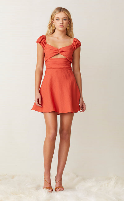 LEXI MINI DRESS - BRICK