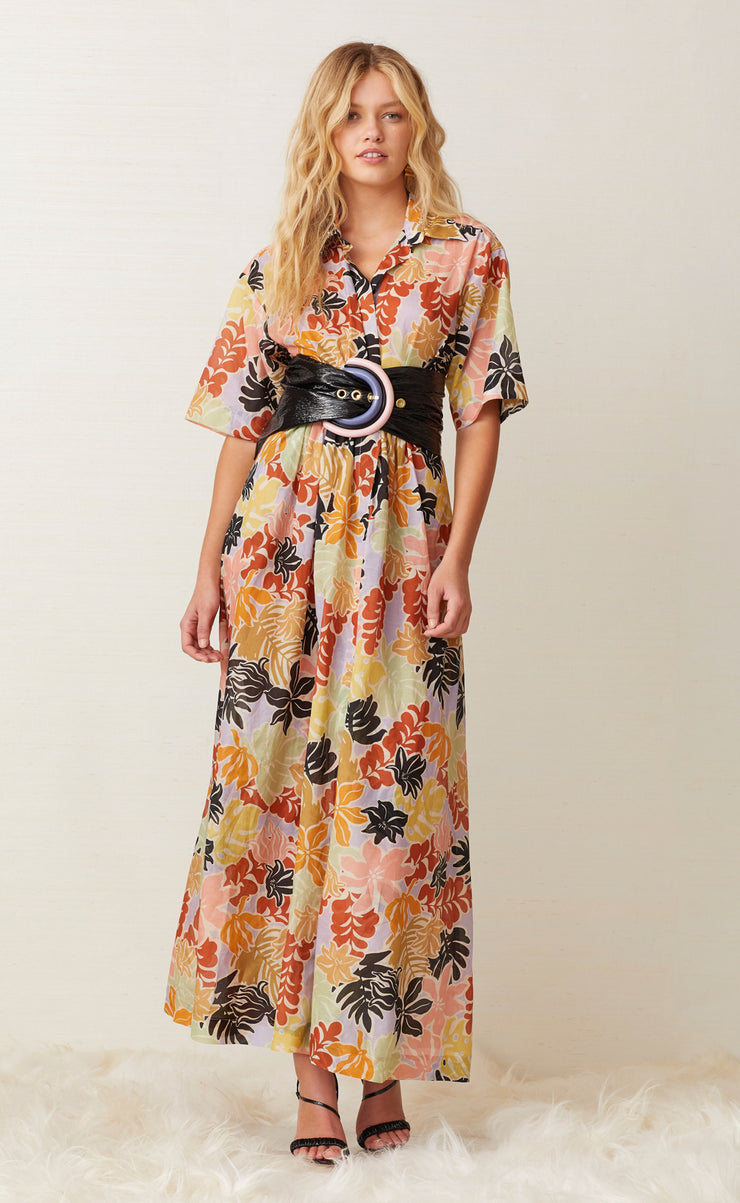 BARRIER REEF MIDI DRESS - FLORAL