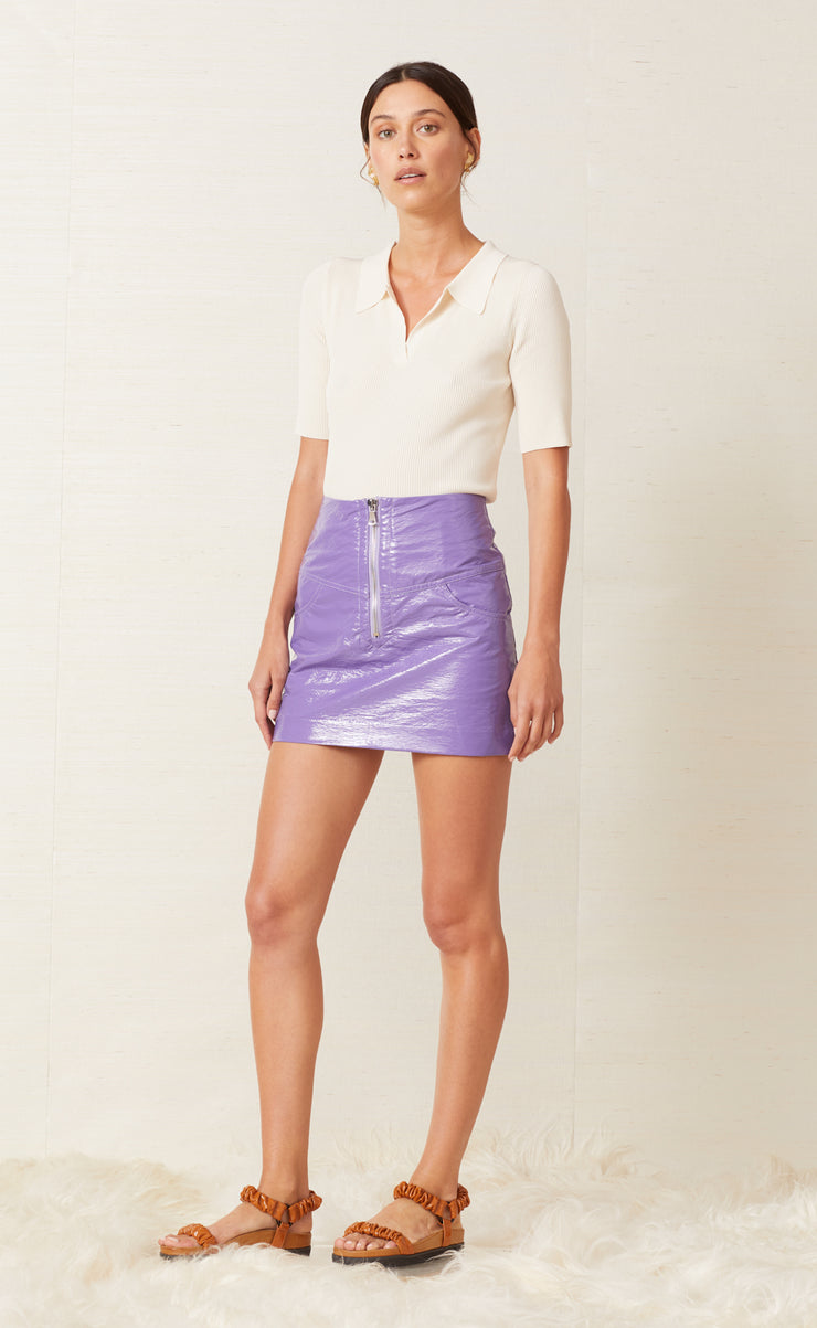 WAX ON MINI SKIRT - VIOLET