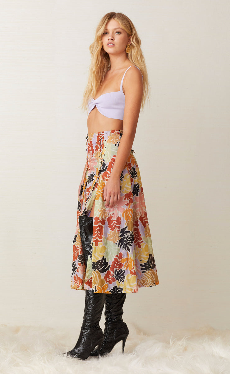 BARRIER REEF MIDI SKIRT - FLORAL