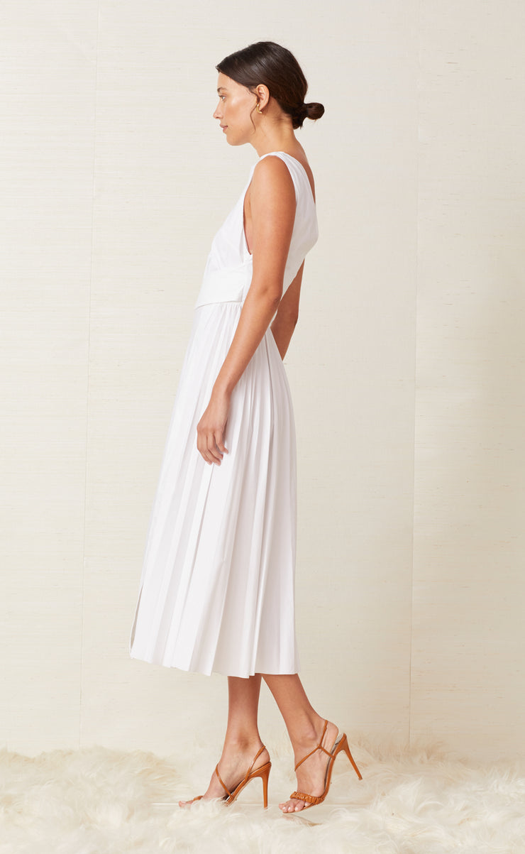 FIA MIDI DRESS - WHITE
