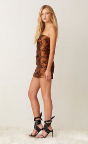 FAR OUT MINI DRESS - RED PALM