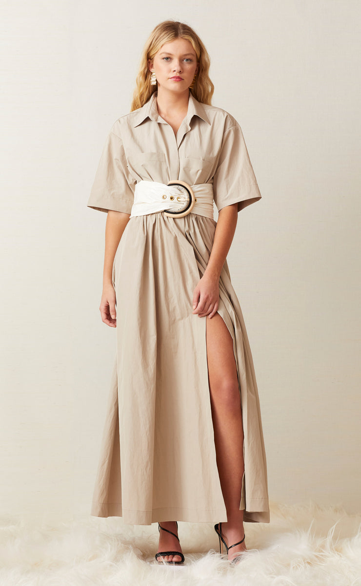 SURFARI SHIRT DRESS - SAFARI