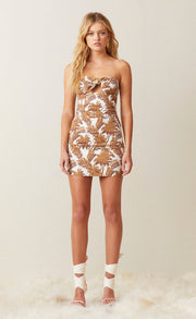 PARTY WAVE MINI DRESS - PALM