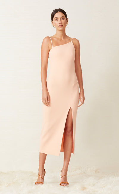 RUBY ASYM DRESS - PEACH