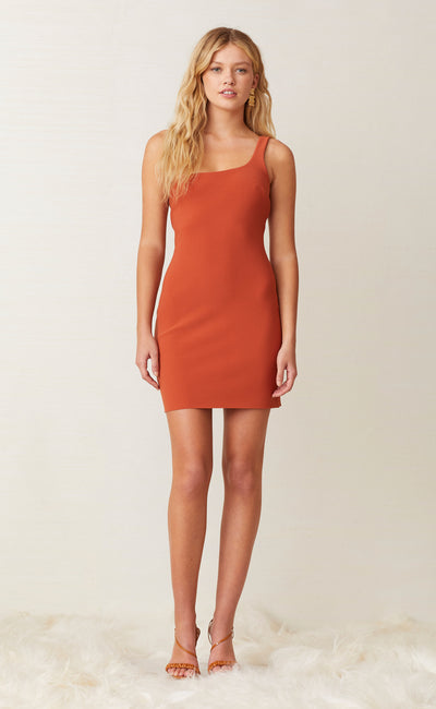 RUBY MINI DRESS - RUST