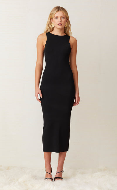 SORBET SUMMER MIDI DRESS - BLACK