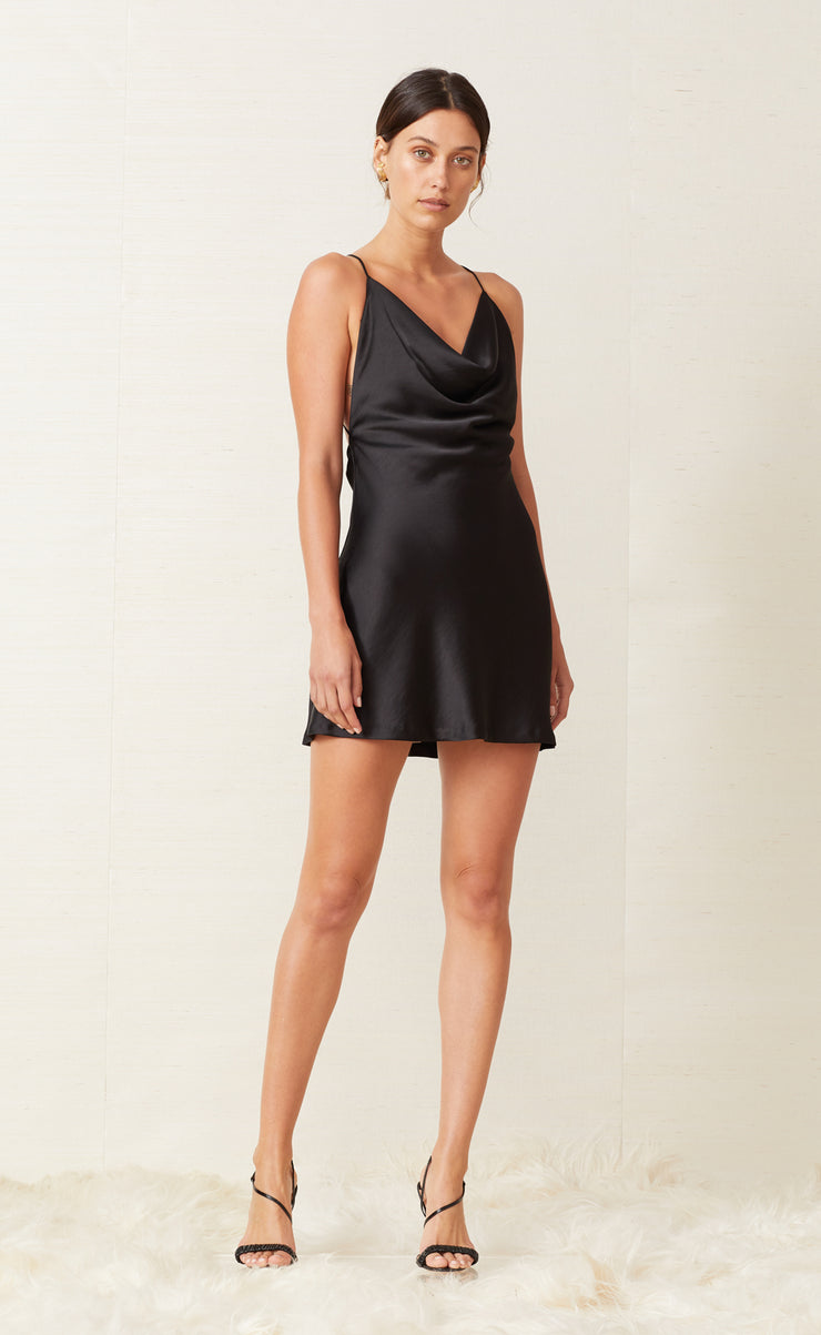 PEARL BAY MINI DRESS - BLACK