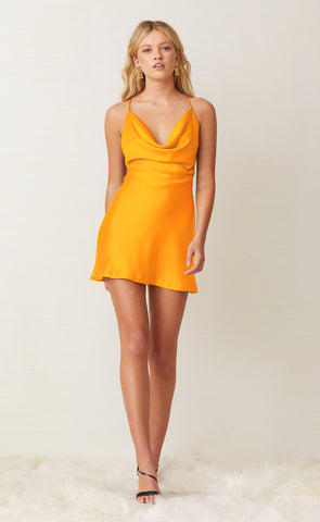 SERAPHINE MINI DRESS - TANGERINE