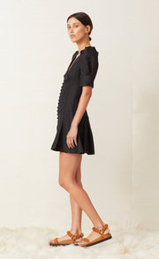 PUKA SHELL MINI DRESS - BLACK