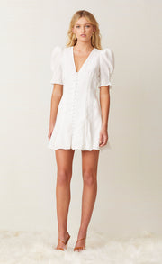 PUKA SHELL MINI DRESS - IVORY