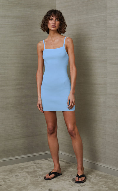 LOLA MINI DRESS - SKY BLUE
