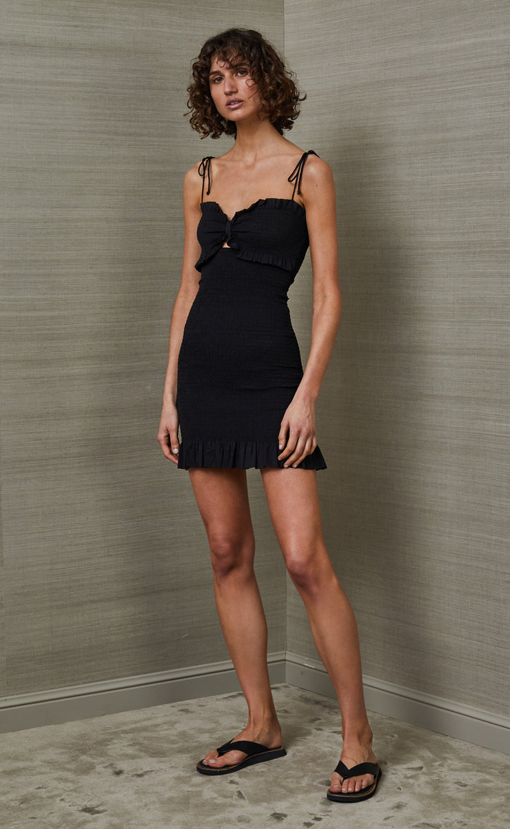 CARRIE MINI DRESS - BLACK