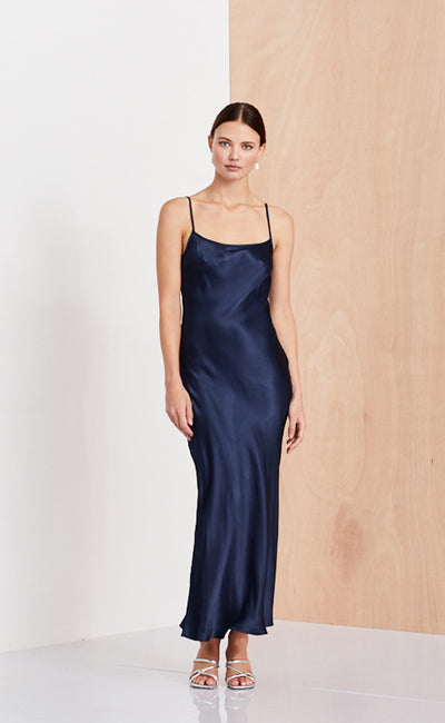 SLIP DRESS  - INK