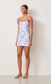 BANANA LEAF MINI DRESS - CORNFLOWER FLORAL