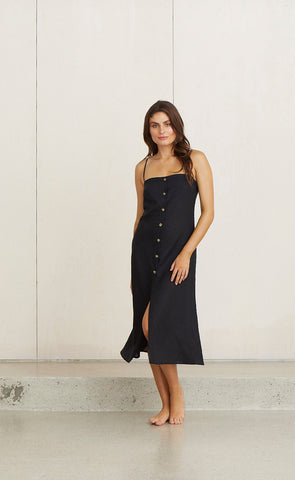 KELLY MIDI DRESS - BLACK
