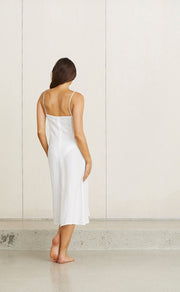 KELLY MIDI DRESS - WHITE