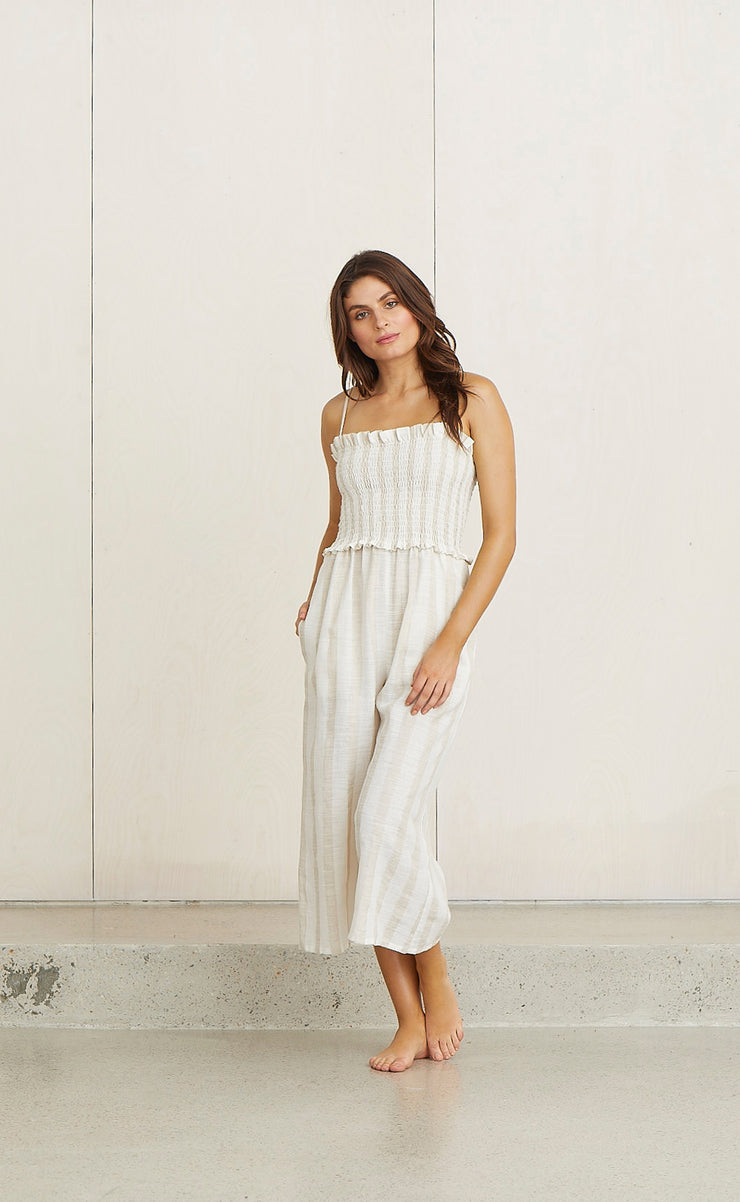 JESSIE'S GIRL JUMPSUIT - NATURAL STRIPE
