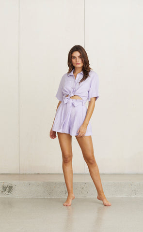 TROPICAL FEVER SHIRT - LILAC