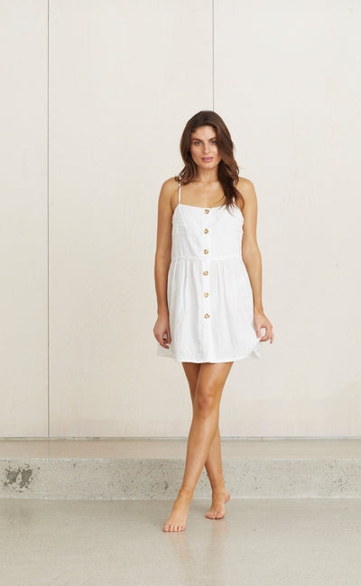 OLIVIA MINI DRESS - WHITE