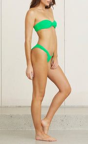 VELVET TEDDY BOTTOM - APPLE GREEN