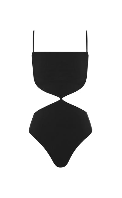 JAGGER CUT OUT ONE PIECE - BLACK