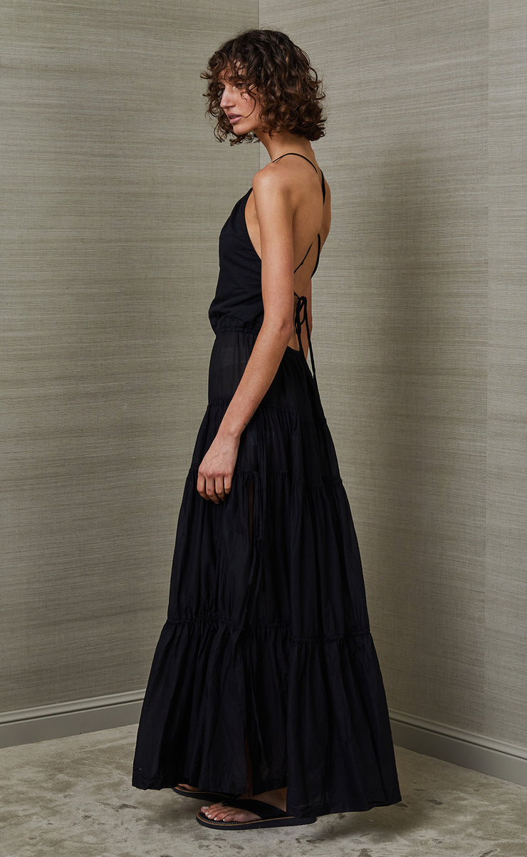 CARMEN MAXI DRESS - BLACK